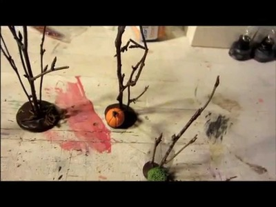 Spooky Town DIY Trees for Landscaping