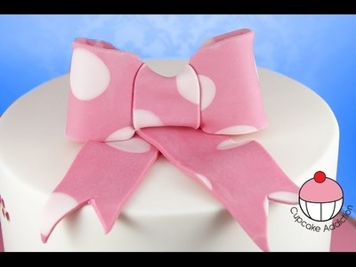 Sugar Bow Tutorial - How to make a Fondant Bow for Cakes & Cupcakes - by Cupcake Addiction