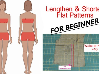The Beginner's Guide to Sewing (Episode 19): Lengthen and Shorten Patterns
