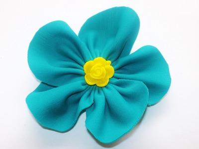TUTORIAL:How to make handmade flower.FIORI DI STOFFA FAI DA TE