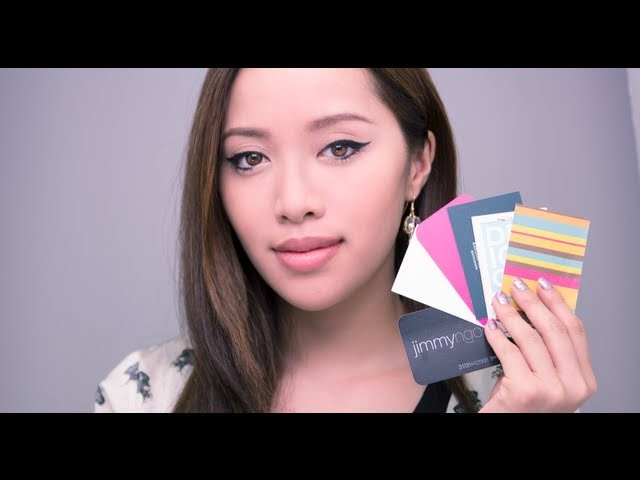 Using Business Cards for Makeup