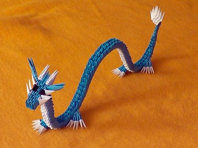 3D origami Chinese dragon tutorial (video with a surprise ending)