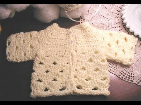 'Abigail' Baby sweater crochet in Tamil & English - video 1