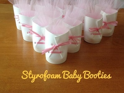 Baby Shower On A Budget Mini Series | Styrofoam Baby Booties