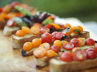 Beth's Summer Garden Tour! + Tomato Bruschetta Recipe