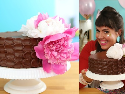 BIRTHDAY CAKE! HOW TO MAKE THE MOISTEST CHOCOLATE CAKE ON EARTH- CREATE OMBRE DESIGN