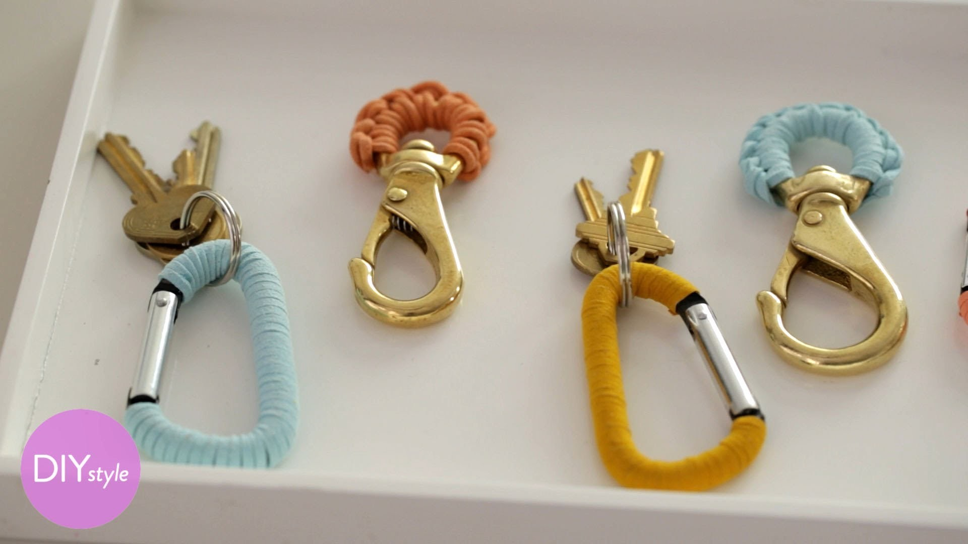 Colorful Leather-Wrapped Keychains - DIY Style - Martha Stewart