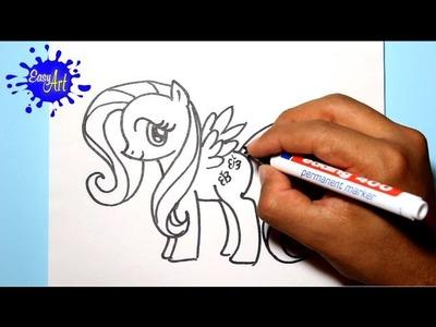 Como dibujar a fluttershy - my little pony - how to draw my little pony