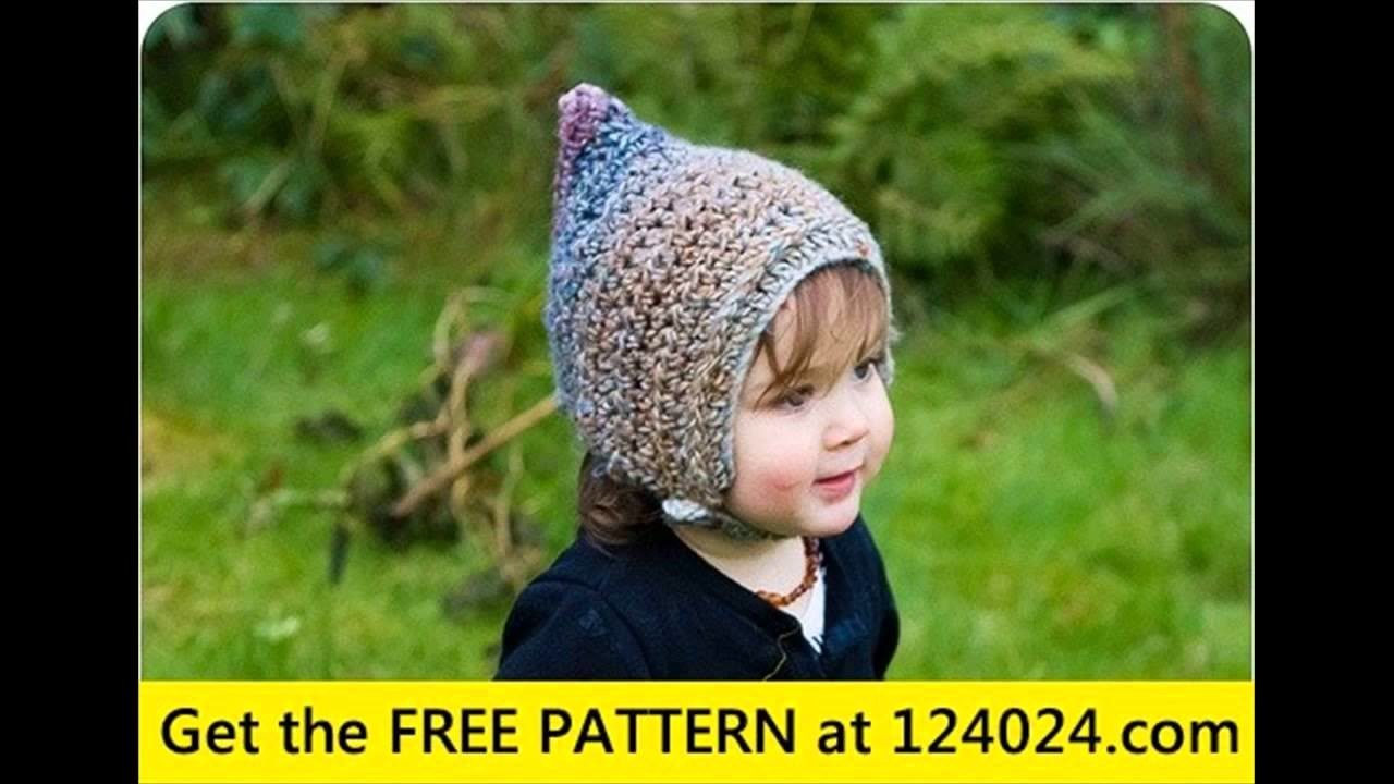 Crochet baby animal hats with flaps pattern