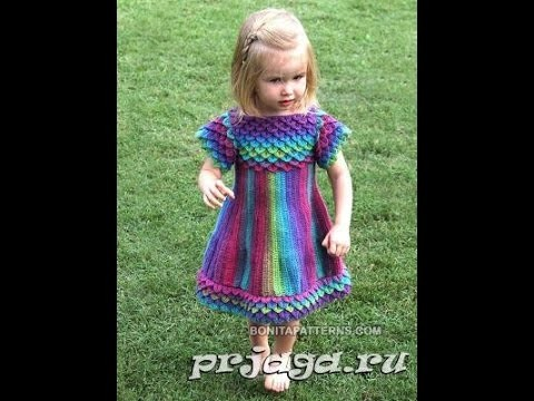 Crochet baby dress| How to crochet an easy shell stitch baby. girl's dress for beginners 77