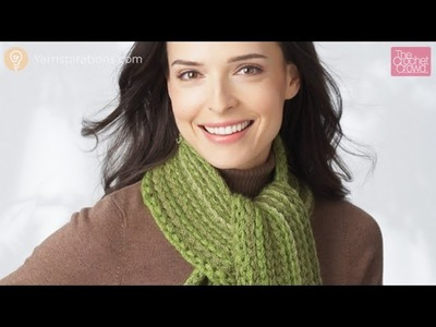 Crochet Faux Rib Scarf
