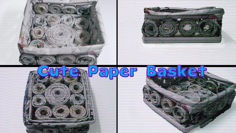 Cute Paper Basket Tutorial