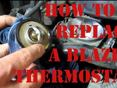 DIY How to Replace a Thermostat On a Chevy Blazer S10 GMC Jimmy 4.3 Vortec Oldsmobile Bravada