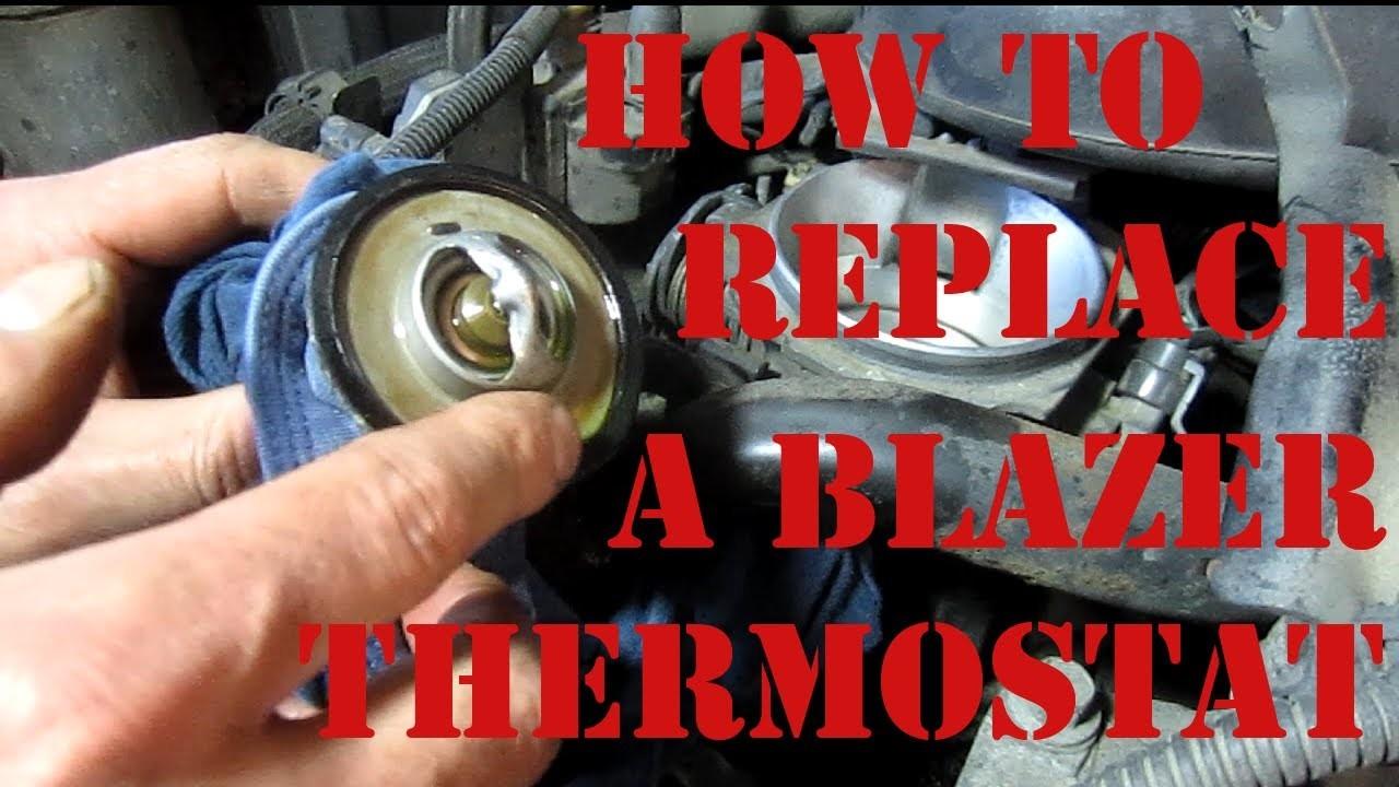 DIY How to Replace a Thermostat On a Chevy Blazer S10 GMC Jimmy 4.3 Vortec Oldsmobile Bravada