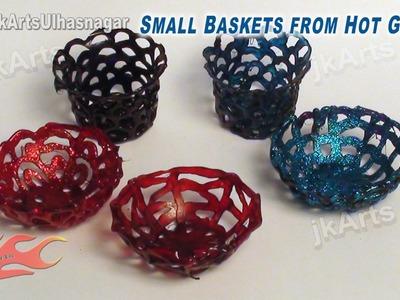 DIY Mini Baskets from Hot Glue | How to make | JK Arts 584