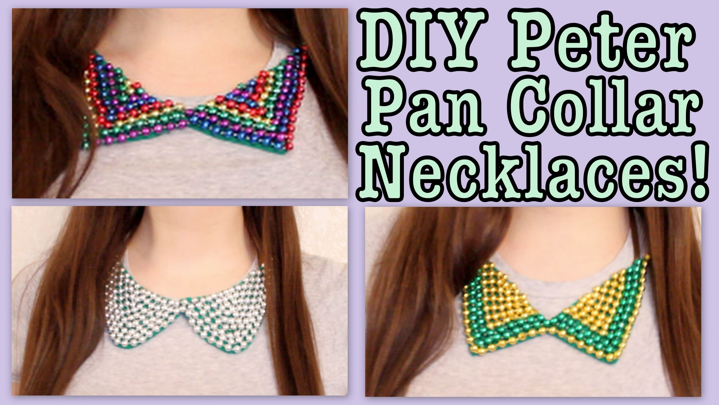 DIY: Peter Pan Collar Necklaces! FOR THE SUMMER!