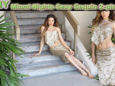 DIY Sequin Skirt & Top Made from Scrap fabric! Easy, Beginner level