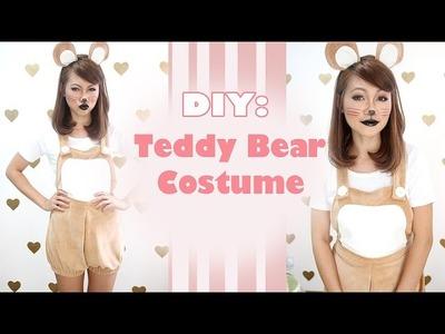 DIY: Teddy Bear Dungaree Costume