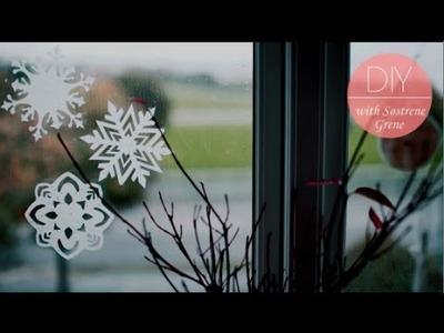 DIY: Tissue paper decoration snowflakes by Søstrene Grene