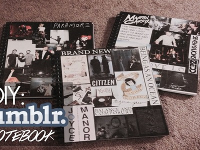 "DIY: ""Tumblr"" notebook photo collage"