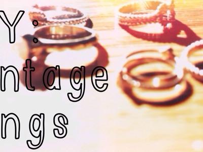 DIY: Vintage Rings