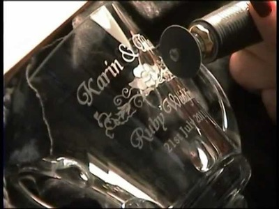 Glass Engraving  demo by Lesley Pyke August 2011