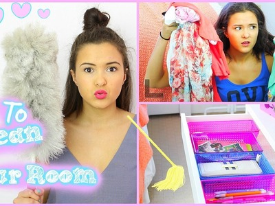 How To Clean Your Room! Quick & Easy! + DIY Organization