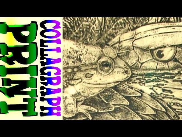 How to Collagraph print.(printmaking)
