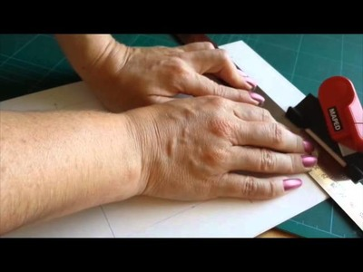 How to cut a mat for framing art and embroidery
