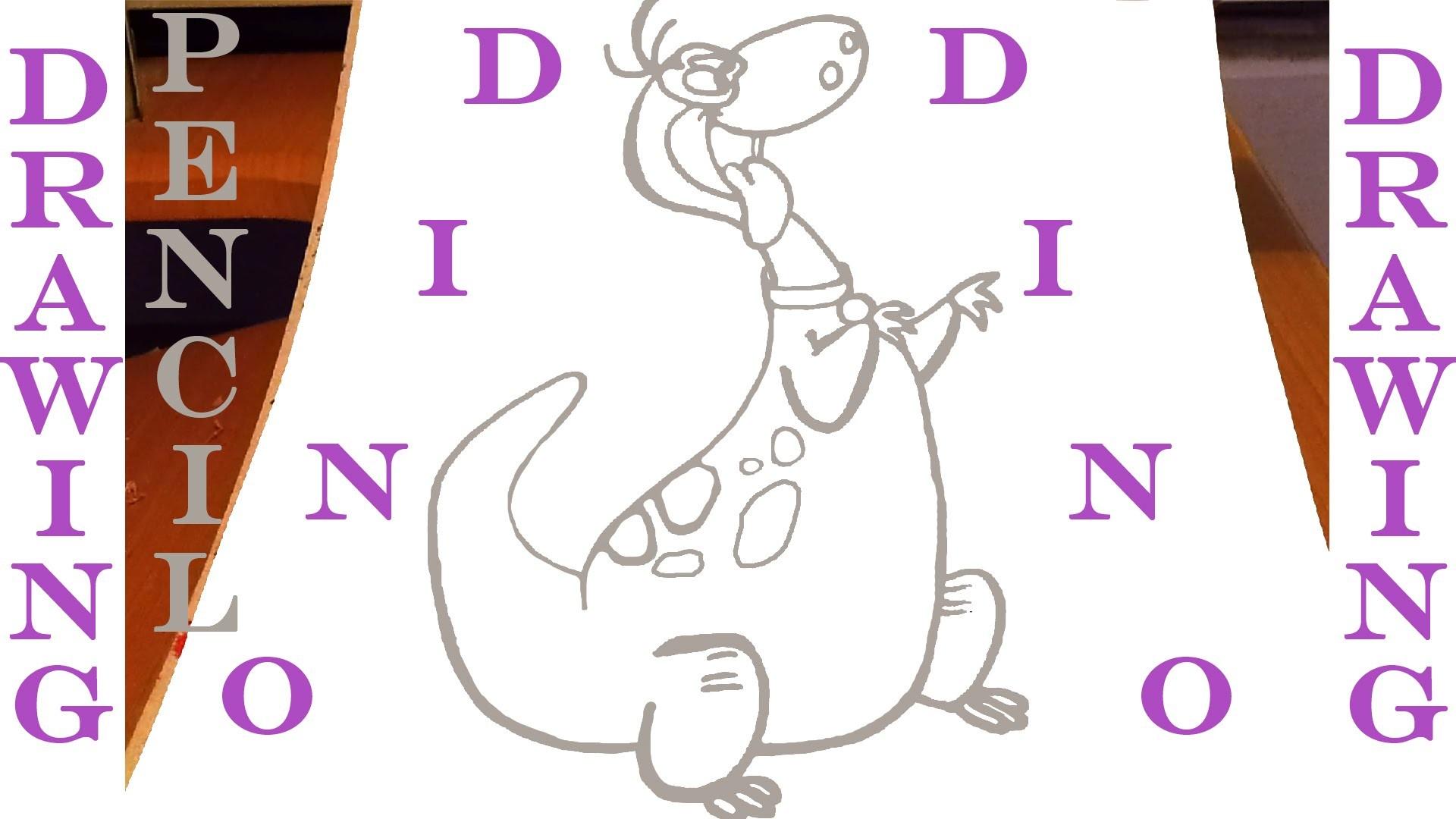 How to draw a Dinosaur DINO Easy - The Flintstones - Cartoon Network   PENCIL   SPEEDY