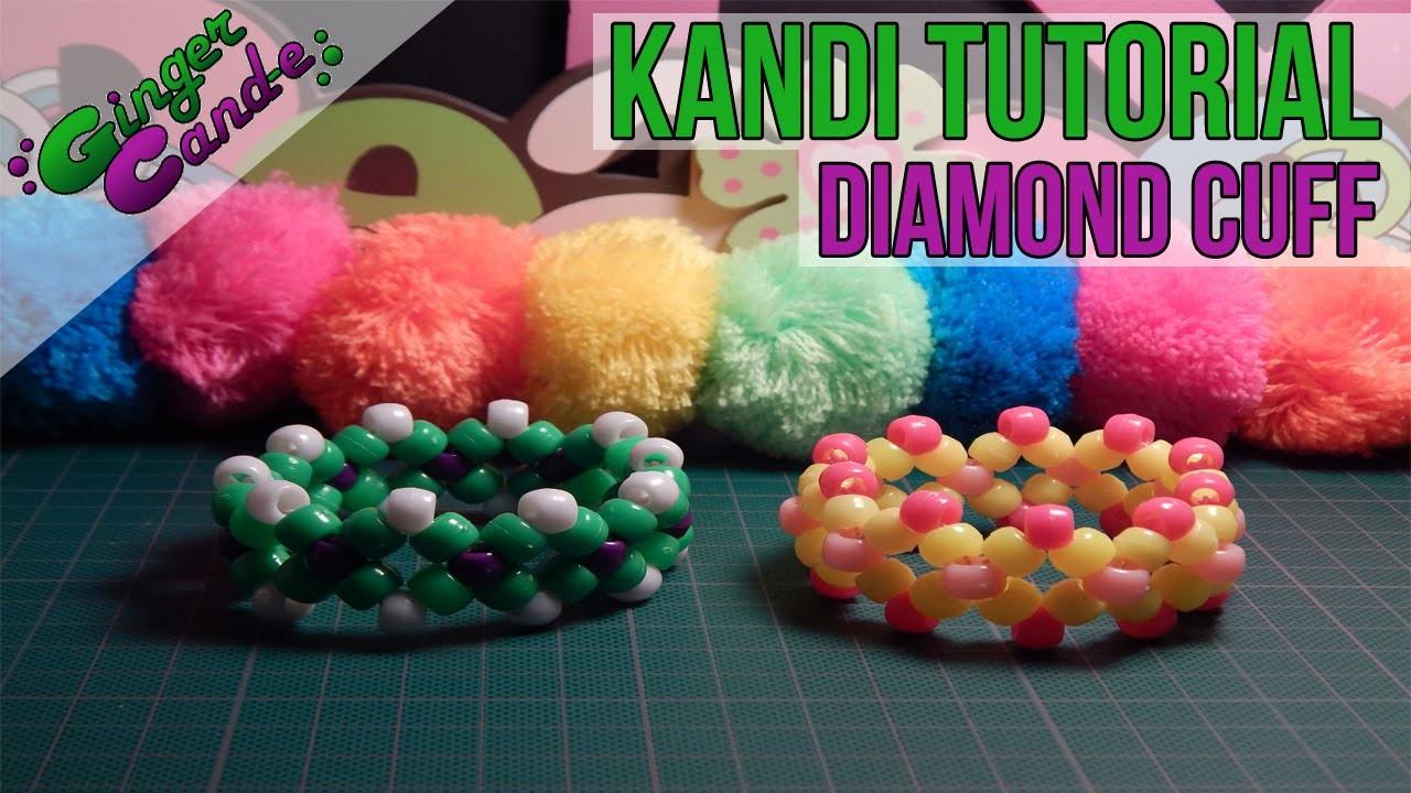 How to Make a Diamond Cuff (Style 1)- [Kandi Tutorial]