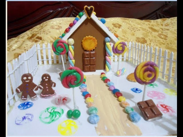 How to make a Doll Decorative Candy House! | Como hacer una casa de muñecas de dulces