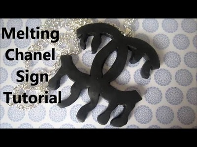 How to make a melting Chanel sign using polymer clay
