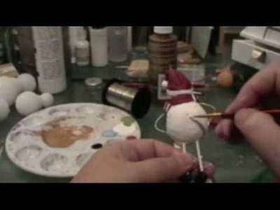 How To Make A Paperclay Snowman Part 5