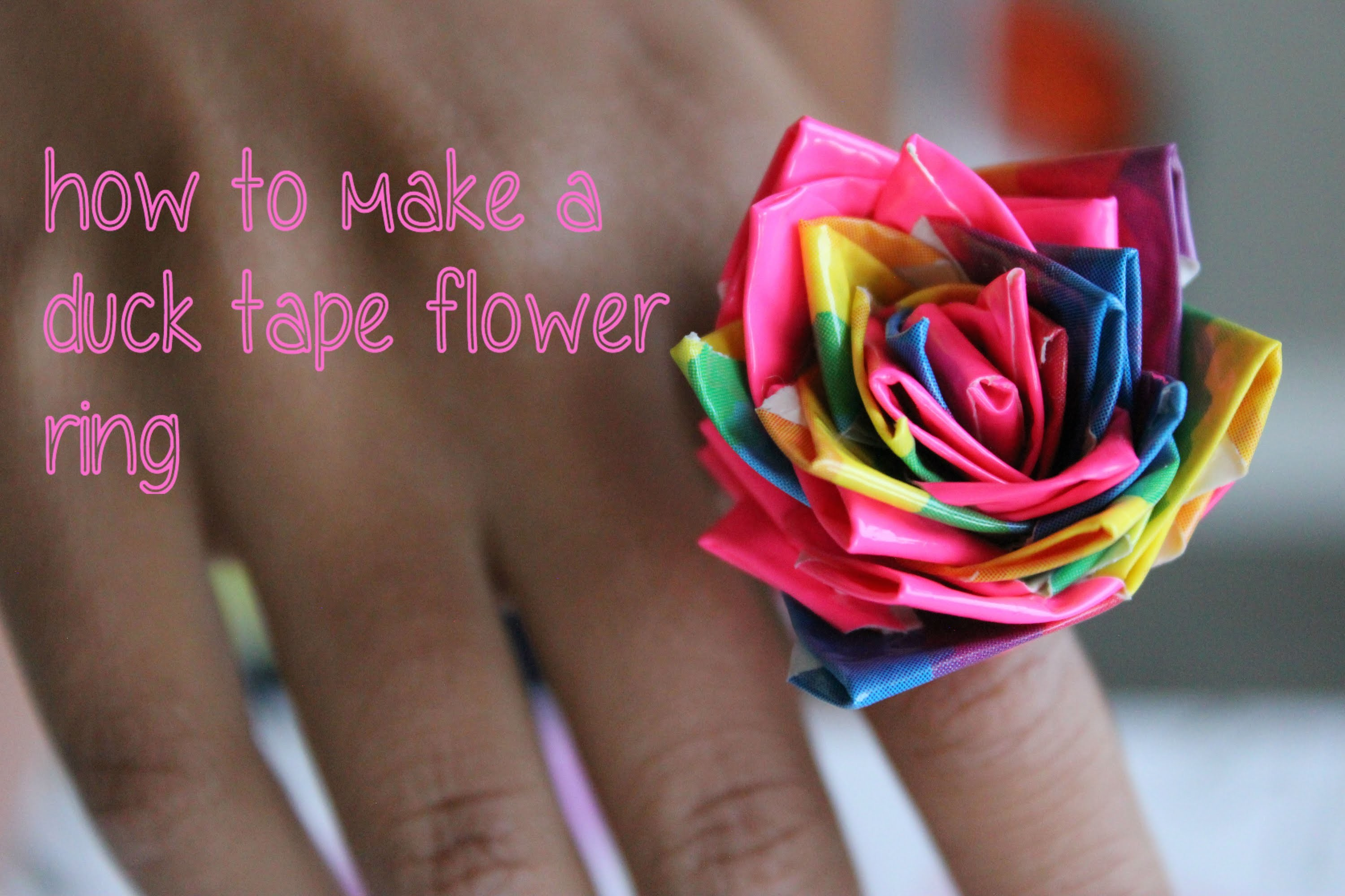 How to Make Duck Tape Flower ring and WINNERS!!