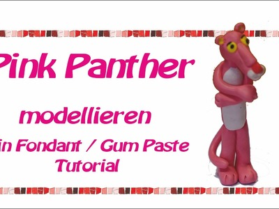 How to make Pink Panther   Polymer clay   Fondant  Fimo  Tutorial