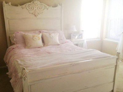 How to Shabby Chic a Bed -- Super Easy!
