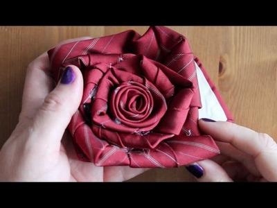 Kristen's DIY Necktie Rose | DIY Gift Idea