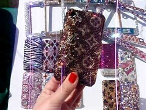LOUIS VUITTON × SWAROVSKI CRYSTALS ON AN IPHONE CASE! by CRYSTAL-RIDERS.COM