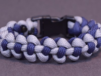 "Make the ""Diamondback"" Paracord Survival Bracelet with Buckle - BoredParacord"