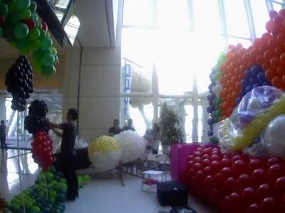 Making of Avon Lee's Magic Castle Balloon Decoration