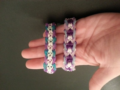 "My New Reversible ""Symbolic"" Rainbow Loom Bracelet.How To Tutorial"