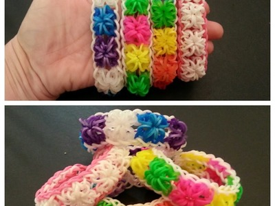 "New ""Powder Puff"" Rainbow Loom Bracelet. How To Tutorial"