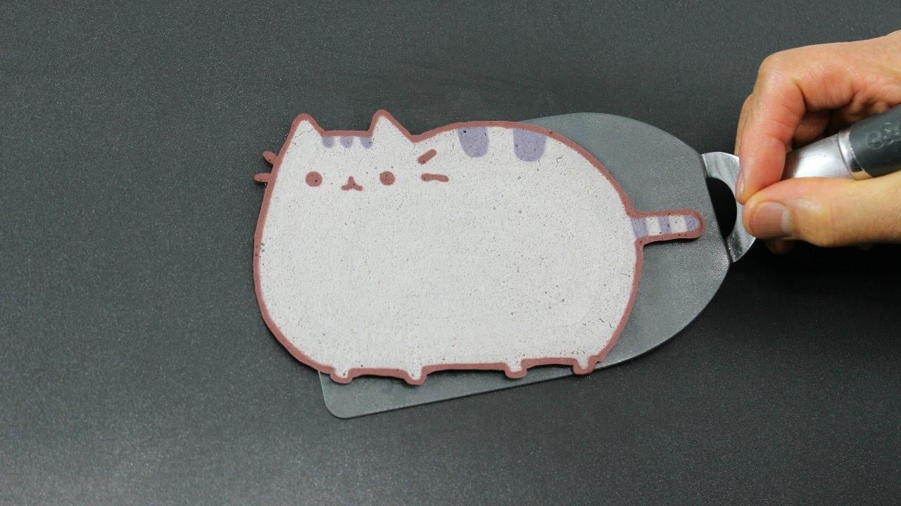Pancake Art - Pusheen Cat by Tiger Tomato