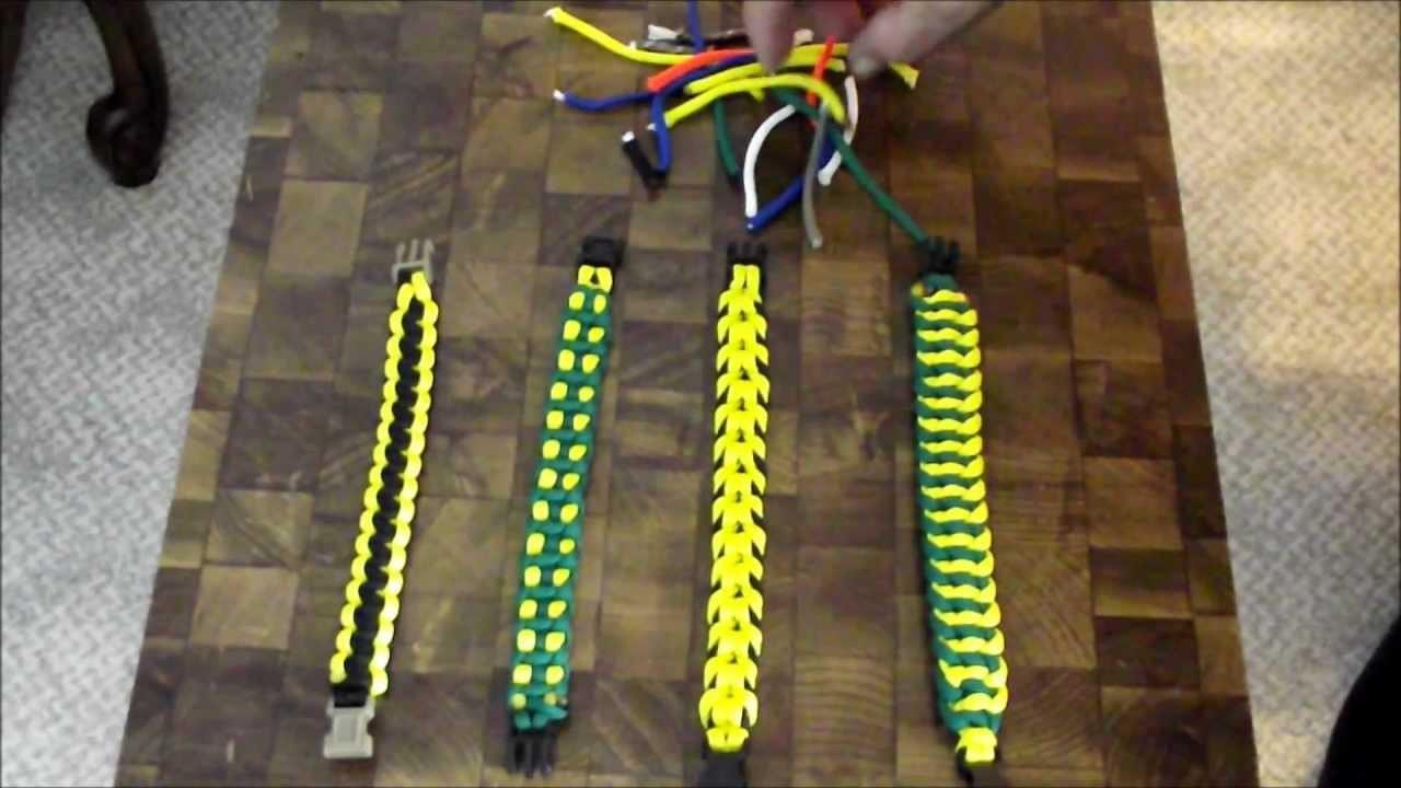 Paracord bracelet math formulas_reduce your scrap