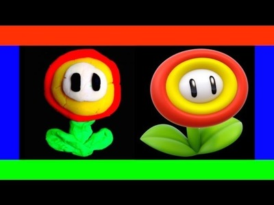 PLAY DOH VIDEOS - HOW TO MAKE A MARIO FIRE FLOWER