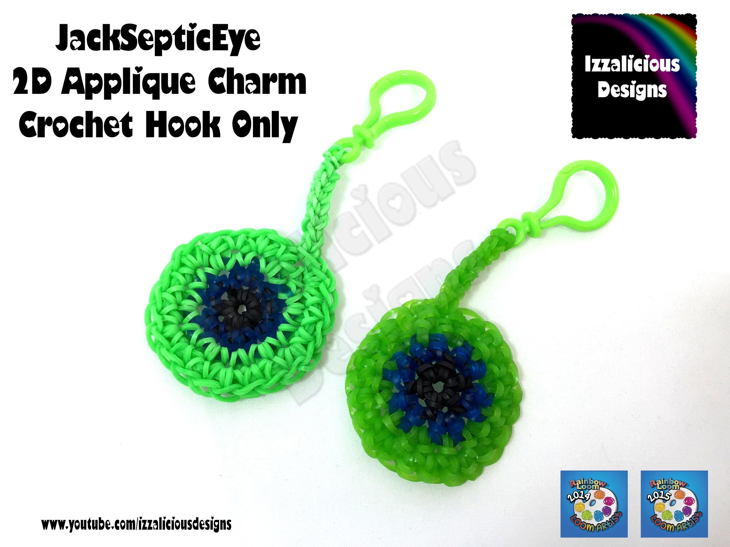 Rainbow Loom | JackSepticEye 2D Applique Charm | Hook only design