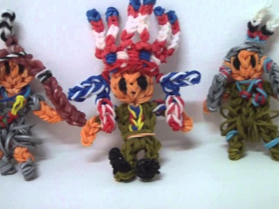 RAINBOW LOOM - Native American Indian figures