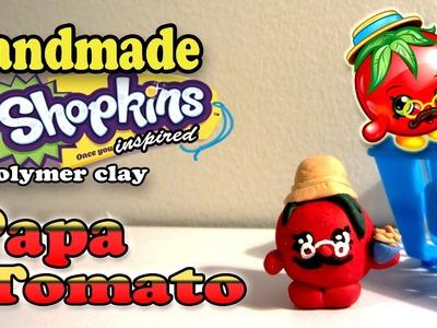 Season 1 Shopkins: How To Make Papa Tomato Polymer Clay Tutorial!