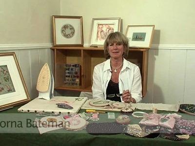 Silk ribbon embroidery with Lorna Bateman